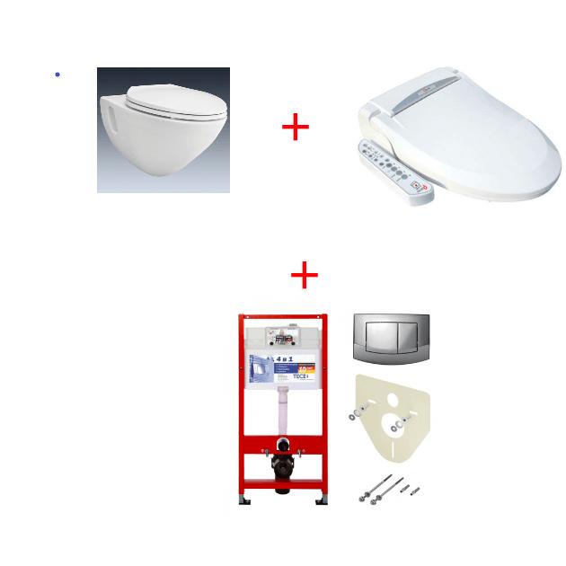 Унитаз TOTO CW560 с крышкой-биде QUOSS 6100+инсталляция TECE 4в1