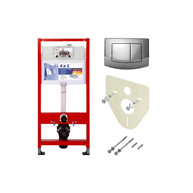 Описание Унитаз TOTO CW560 с крышкой-биде QUOSS 6100+инсталляция TECE 4в1