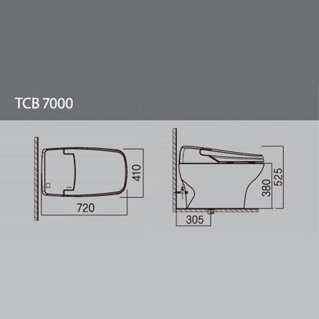 Цена в Украине на Электронный унитаз VOVO TANKLESS  TCB 7000